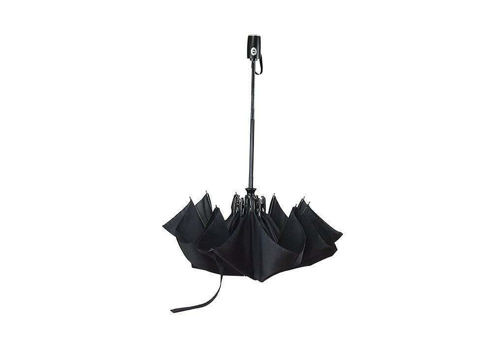 Parapluie cadre renforc/é coupe-vent Kaflix Parapluie ouvert et ferm/é automatique.Pare-soleil enduit de t/éflon r/ésistant S/échage rapide avec poign/ée antid/érapante et id/éal pour lext/érieur