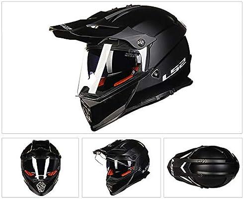 Sunzy Casco de Motocross Negro Adulto Bicicleta de montaña Casco ...