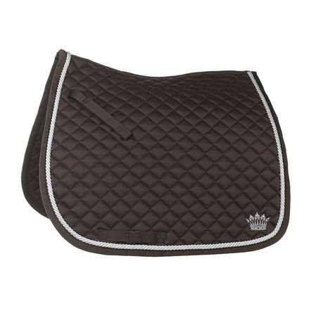 Horze Silver cord saddlepad, dressage, Chocolate Brown, F
