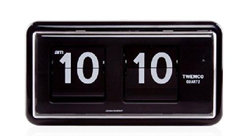 TWEMCO トゥエンコ QT-30 インテリアクロック ブラック [クロノワールド chronoworld] B00CZ7T24Q