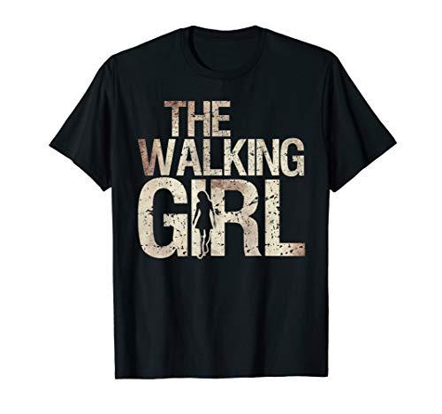 Walking Girl Shirt Zombie Woman Teen Kid Mother's Day Tee -
