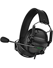 $25 » Jeecoo J50 Stereo Gaming Headset with Clear Microphone, Folding Gaming Headphones Lightweight Portable Compatible for PS4 PS5 Xbox One PC & Laptop Computer