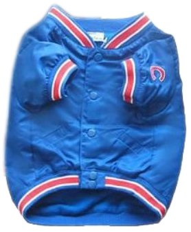 Pet Dugout Dog Jacket - Sporty K9 Chicago Cubs Dugout Dog Jacket, Medium