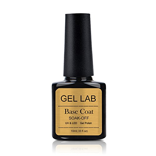 GEL LAB Base Coat Gel Nail Polish Cured with UV LED Lamp - F