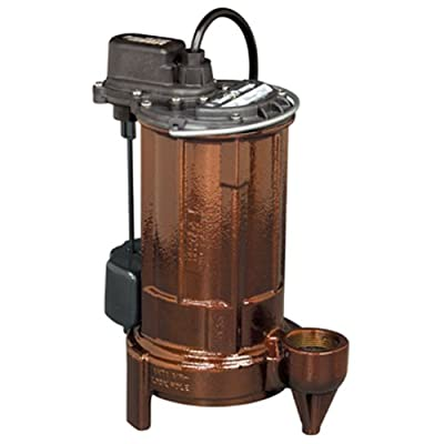 Liberty Pumps 287-2 Vertical Magnetic Float 1/2 HP Mid Range Head Submersible Sump/Effluent Pump with Series Plug and 25-Feet Cord