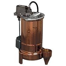 Liberty Pumps 280-5 Manual 1/2 HP Mid Range Head Submersible Sump/Effluent Pump with 50-Feet Cord