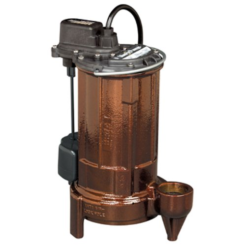 Liberty Pumps 287-2 Vertical Magnetic Float 1/2 HP Mid Range Head Submersible Sump/Effluent Pump with Series Plug and 25-Feet Cord - Sump Pump 25' Cord