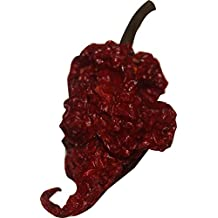 Red Tail Scorpion Chili Peppers 10 Dried Trinidad Seed Pods Plus 2 Free, Hotter than Ghost Pepper