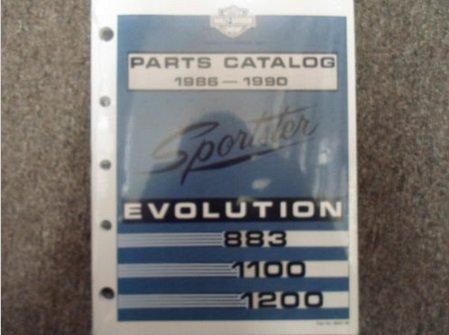 1990 Harley Davidson Sportster Evolution Models Parts Catalog Manual NEW x