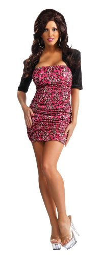 Jersey Shore Snooki Costumes (Jersey Shore Snooki Dress and Shrug, Pink, Small Costume)