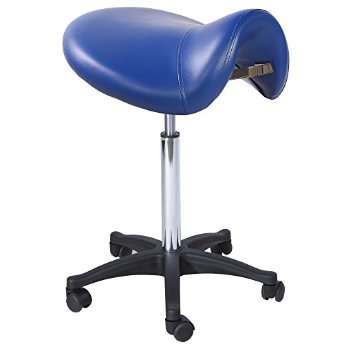 Salon Spa Massage Office Doctor Dental Tattoo Hydraulic Saddle Stool ST-01BLU by Brayson