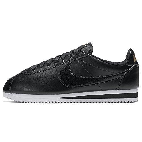 Nike Damen Wmns Classico In Pelle Cortez Low-top, Bianco, 36,5 Eu Schwarz (nero / Nero-mtlc Rd Brnz-bianco)