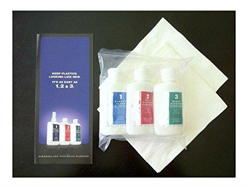Plastic Polish Scratch Remover Cleaner Kit #1#2 & #3 2oz Bottles (1 Each) (Spa Polish Gloss)