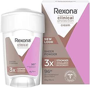 Rexona Women Clinical Protection Antiperspirant Deodorant Sheer Powder, 45ml