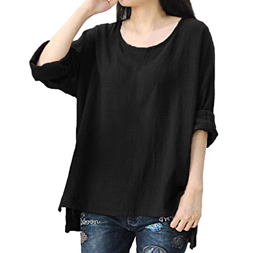 Price comparison product image Women Plus Size Top,  Realdo Crewneck Long Sleeve Loose T-Shirt Blouse