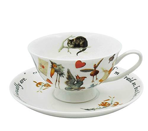 TeaCups London Alice In Wonderland Cup And Saucer: Amazon.es: Hogar