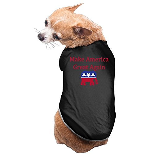 Aip-Yep Funniest Make America Great Again 2016 Doggy Costumes Black Size L