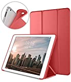 DTTO iPad 2 Case, iPad 3 Case, iPad 4 Case, Ultra Slim Lightweight Smart Case Trifold Cover Stand with Flexible Soft TPU Back Cover for iPad 2, iPad 3, iPad 4 [Auto Sleep/Wake], Red