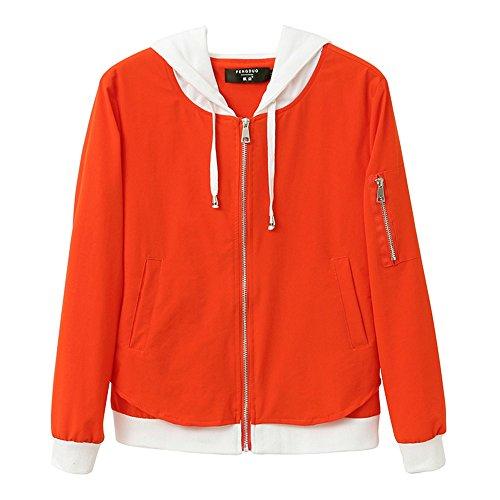 QFFL fangshaifu 夏の薄いルーズサンプロテクションウェア/女性ショートフード付きコート/学生ファッションサンプロテクションジャケット/ステッチカラーオフィスエアコンショール(3色展開可能) (色 : A, サイズ さいず : L l)