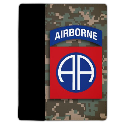 VictoryStore Electronic Device Cover, Protective Leather Case, Compatible with iPad 2 & 3 Cover Military Design #10 (82nd Airborne Division) - Protective Leather and Suede Case