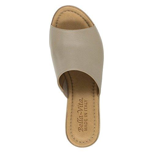 Bella Vita Mileto para mujer sandalias de cuña Marrón topo