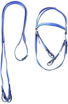 GCSEY Collar De PVC Cabeza De Caballo A Caballo Cabestro Bri Cuerda Ajustable Equipo Ecuestre Accesorios