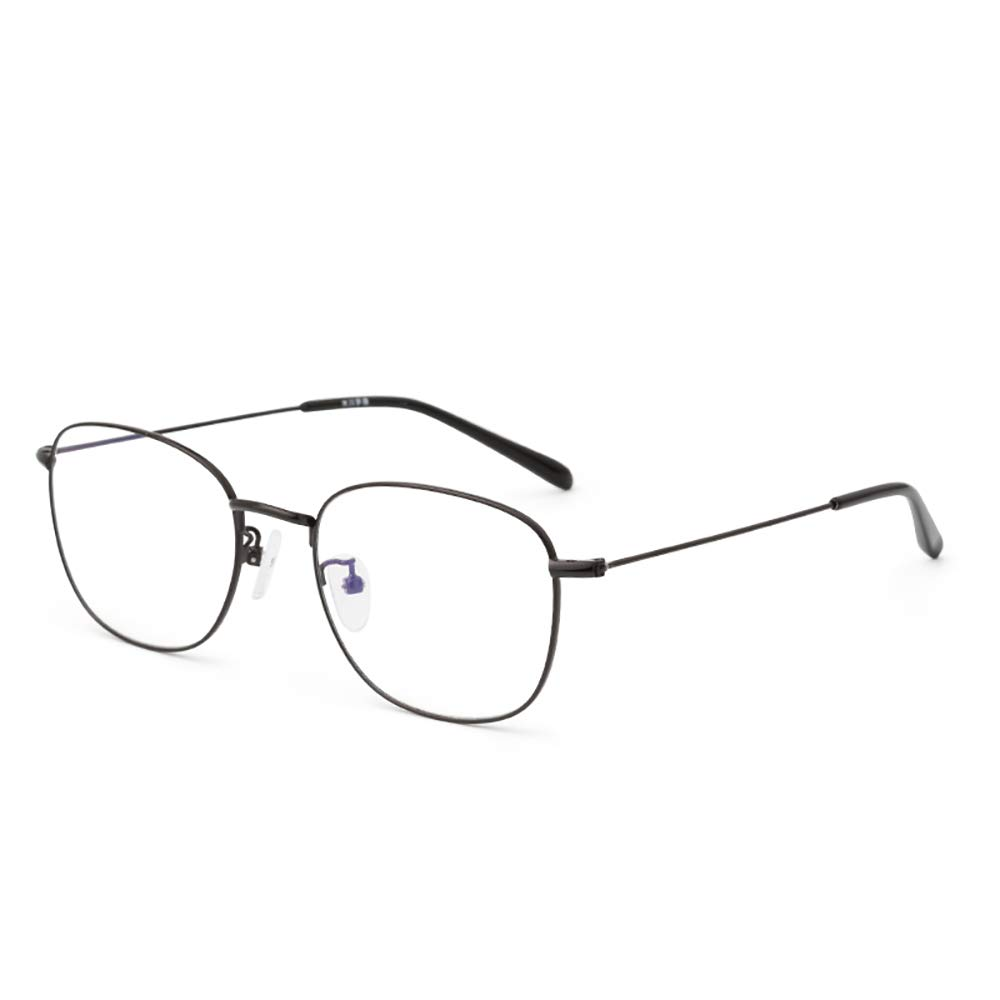 HAIBUHA Occhiali Da Vista Retrò Delicati Occhiali Tondi Ultra-Leggeri Montatura Full Frame In Metallo Argento