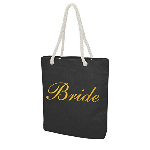 Personalised Tote Bag Bride Bridesmaid Maid of Honour Hen Gift Bridal Shower Bachelorette Party by Elehere