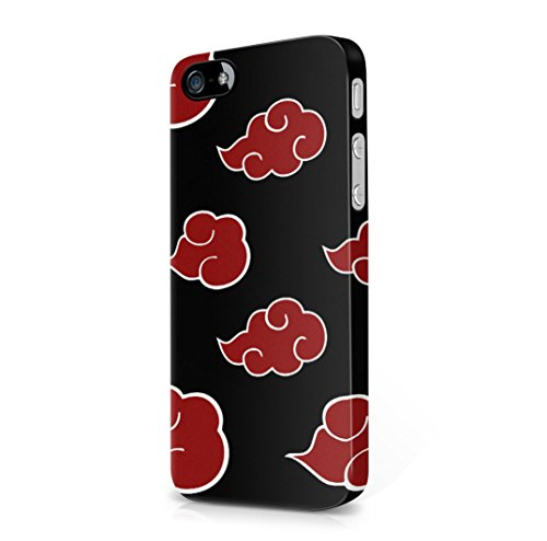 Naruto Akatsuki clan cloud symbol pattern iPhone 5, iPhone 5s Hard Plastic Case Cover