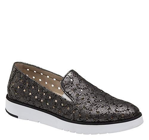 - Johnston & Murphy Women's Penelope Shoe Black Floral Italian Suede 9 M US