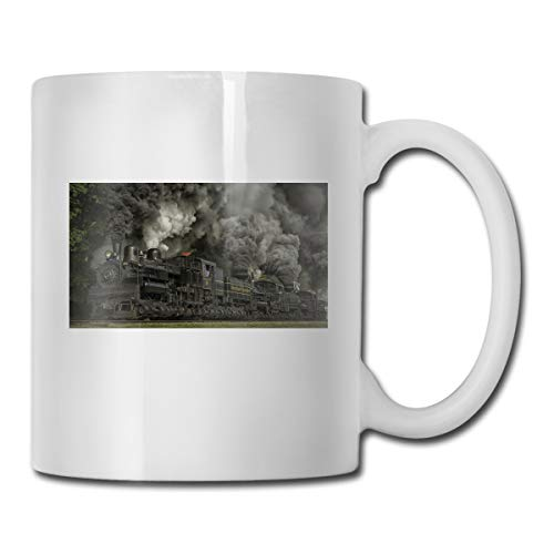 Porcelain Coffee Mug Train Locomotive Ceramic Cup Tea Brewing Cups for Home Office (Telephone Locomotive)