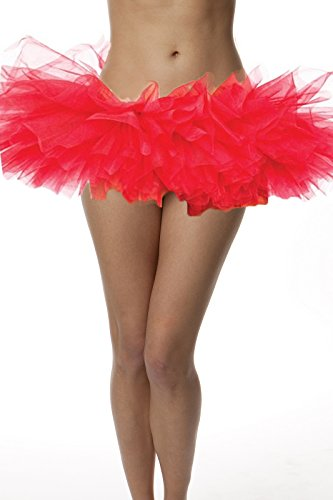 [Top Rated Adult Tutu Skirt, ballet tutu style, by BellaSous. Perfect princess tutu, adult dance skirt, rehearsal tutu, or petticoat skirt. Plus size tutu available! Tulle fabric - Red] (Back To School Theme Party Costumes)