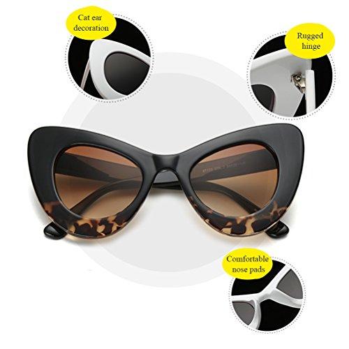 Quotidienne Lunettes Unique Girls Femmes Sunglasses Et Protection Zhhlinyuan De Mode Vinaigrette Aux Accessoires Womens Des Forme Black Soleil 8ngqF1