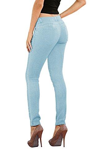 Women's Butt Lift Stretch Denim Jeans-P37377SKX-LightWash-20