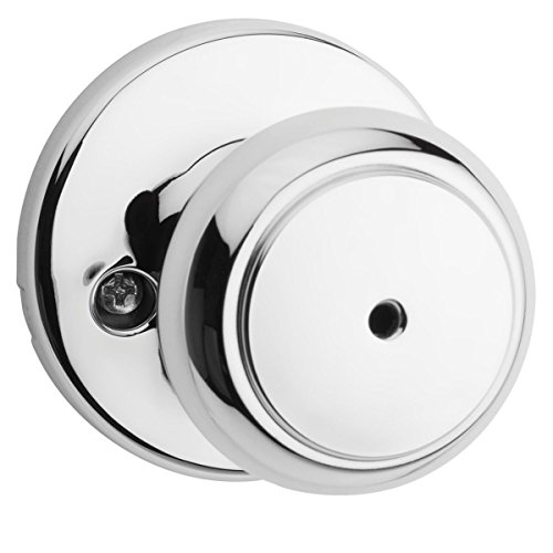Kwikset 300CV 26 6AL RCS Cove Bed/Bath Knob, Polished Chrome - Chrome Privacy Door Knob