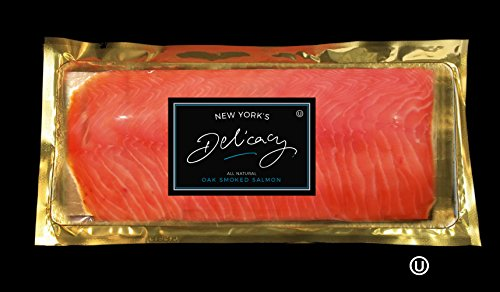 (3 x 3 Lb. Pre-Sliced, Center Cut Smoked Salmon Nova Deli Board. All dark meat, borders and ends have been trimmed off leaving only the center portion of the fillet.(9 Lb.))