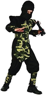 Disfraz ninja militar para niño - 4 - 6 años: Amazon.es: Juguetes ...