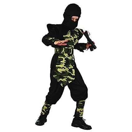 Disfraz ninja militar para niño - 10 - 12 años