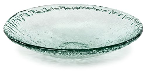 (100% Recycled Glass Textured Small Serving Bowl - 12.25