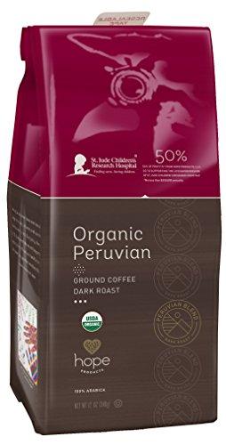 Hope Products Coffee, ORGANIC PERUVIAN,12 oz Ground Coffee
