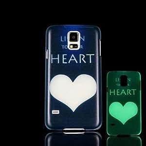 GX Teléfono Móvil Samsung - Cobertor Posterior - Gráfico/Diseño Especial/Resplandor en la Oscuridad - para Samsung S5 i9600 Plástico )