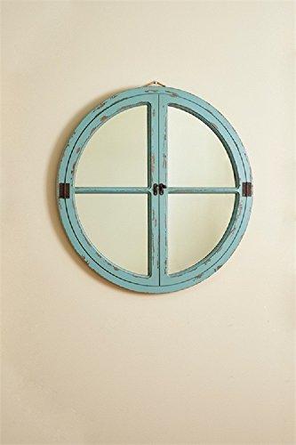 Park Round Mirror (Park Designs Round Window Wood Mirror 27.75 inches Diameter x .75 inches Depth- Sea)