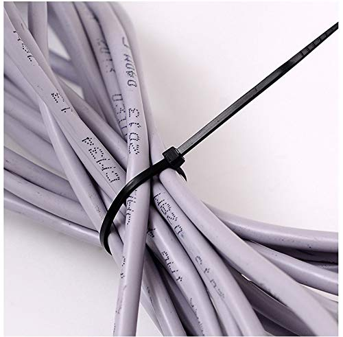 100PCS 8'' Locking Nylon Plastic Cable Ties Zip Wire Black Cord Wrap by NewKelly (Image #2)