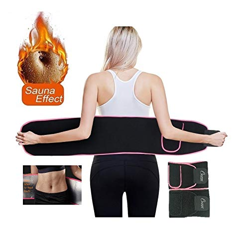 Athletic Waist Trainer Belt for Women Men, Sauna Action for Increased Sweat and Rapid Weight Loss Cozzi Rapid Weight Loss Belt