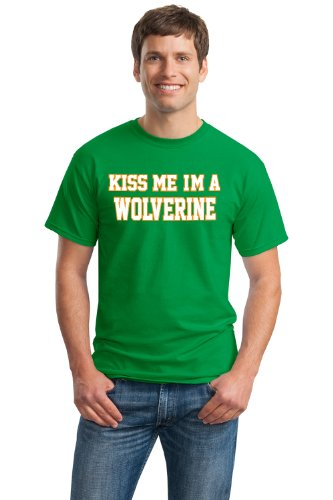 KISS ME, I'M A WOLVERINE Unisex T-shirt / Ann Arbor, Michigan St. Pat's Tee