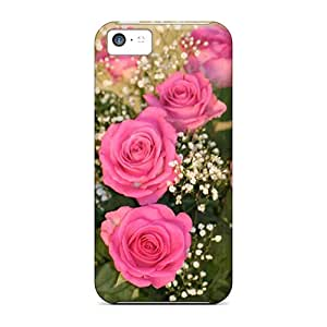 Durable Case For The Iphone 5c- Eco-friendly Retail Packaging(12 Pink Roses)
