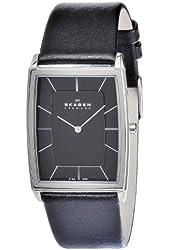 Skagen Men's 857LSLB Quartz Stainless Steel Black Dial Watch