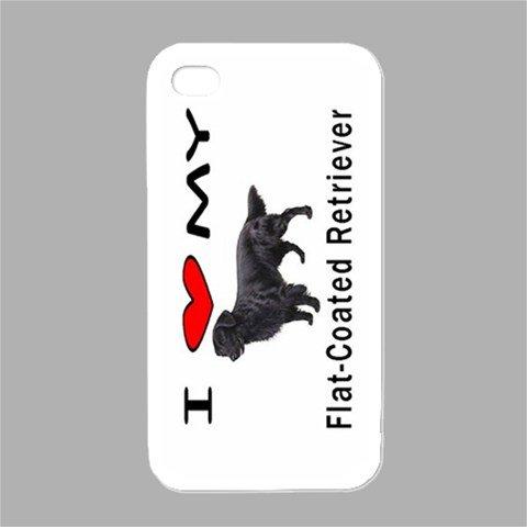 I Love My Flat Coated Retriever White Iphone 4 and Iphone 4s ()