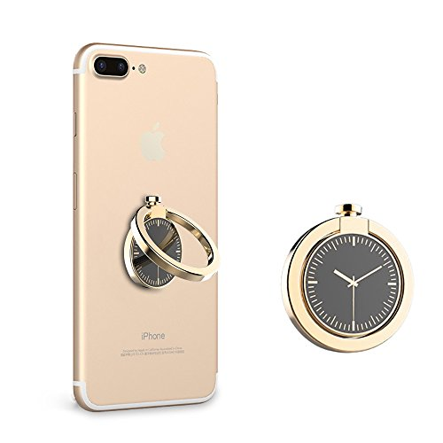 Cellphone Ring Holder, Kids Partner Mobile Phone Ring Stand with Watches Shape - Grip 360°Universal for iPhone 7/7 Plus, 6s Plus/ 6s,Samsung S7, S7 Edge, S6,and Other Smartphones (Gold)