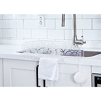 Kitchen Sink Splash Guard Amazon kitchen sink splash guard slate gray kitchen dining kitchen sink water splash guard for washing dishes workwithnaturefo